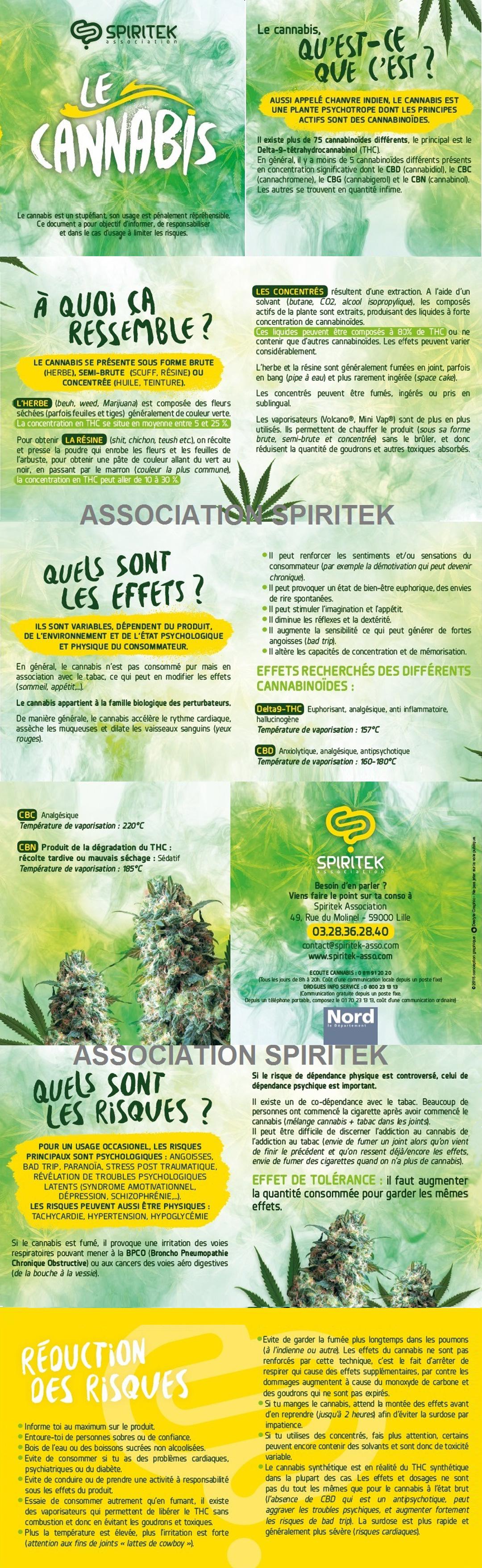 Télécharger le flyer sur la Cannabis en pdf