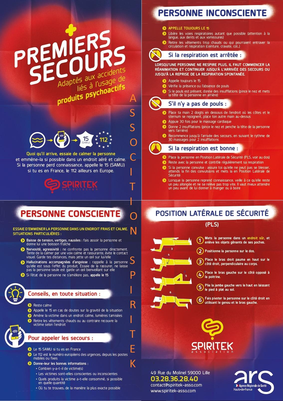 Télécharger le flyer sur les Premiers secours en milieux festifs en pdf