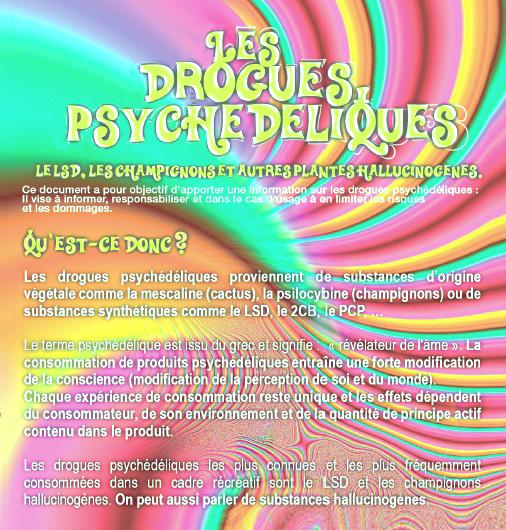 Télécharger le flyer sur les drogues psychédéliques en pdf